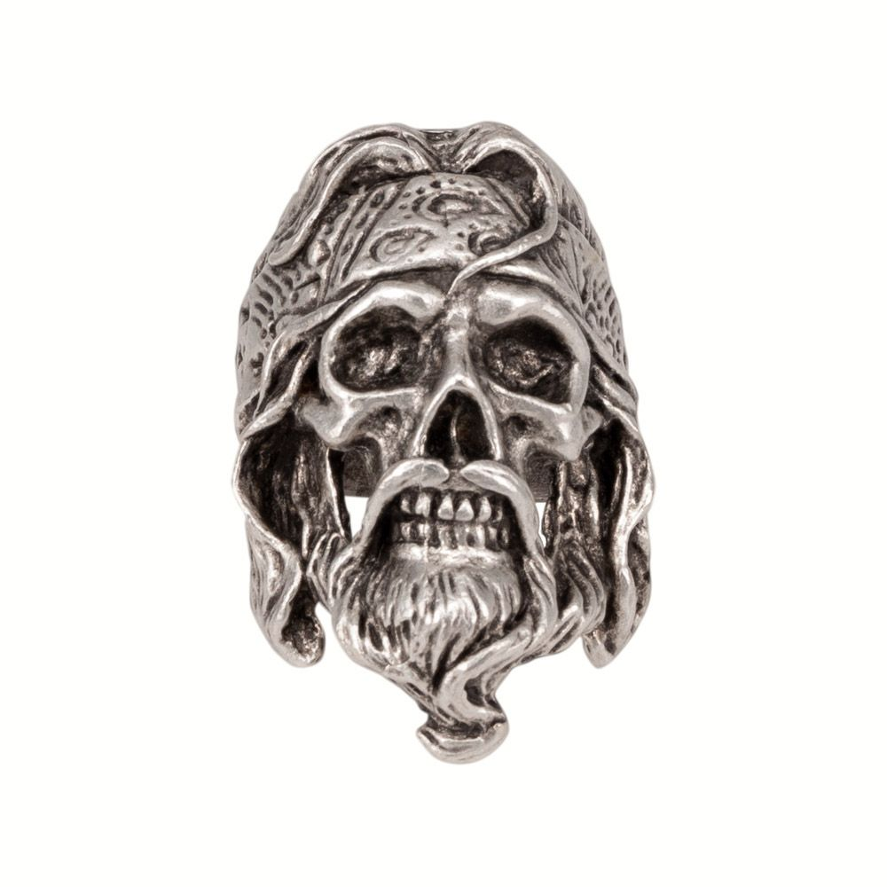 Bague homme sans dimension crâne 55888 (argent, Zamak)