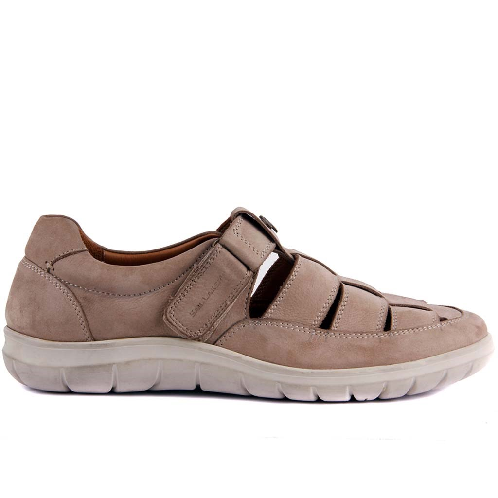 Sail Lakers-Beige Nubuck Male Sandals