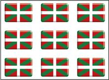 Pegatina Bandera Rectángulo 9 uds. Euskadi RESINA 16x11 mm/ud.