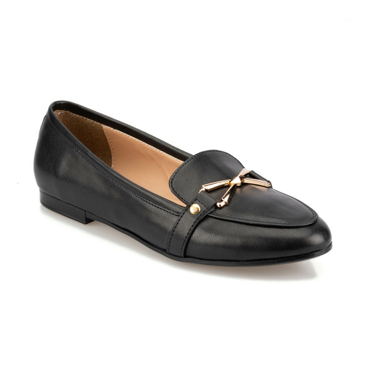 FLO 92.314104.Z Black Women Loafer Shoes Polaris