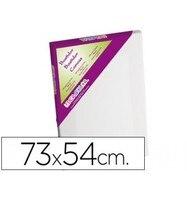 Quadro lidercolor 20 p tela grampear lado algodão 100% marco pawlonia 1 8x3 8 cm bordas madeira 73x54 cm   -