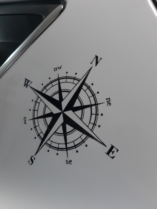15cm*15cm Art Design Vinyl NSWE Compass Car Stickers Decals Black/Silver S6 3505 car stickers decals silver car decalsvinyl car decal - AliExpress