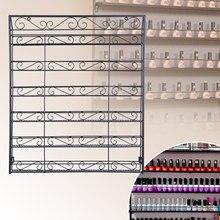 Yonntech 6 Tier Schwarz Nagellack Display Wand Rack Metall Organizer Halten 120 Flaschen