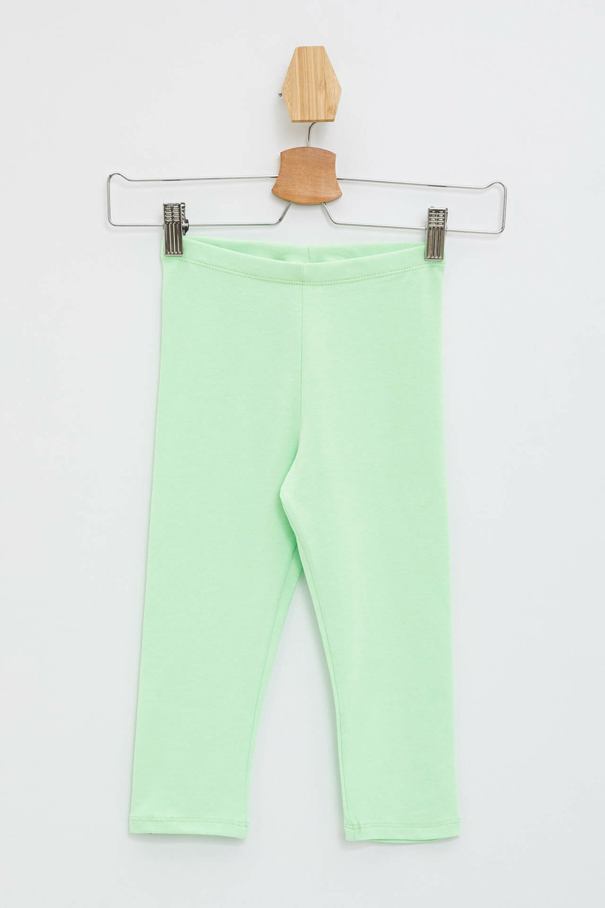 DeFacto Girl Summer Casual Fit Green Color Leggings Pants Girls Elastic Long Pant Kids Neon Color Leggings-L7093A619HS