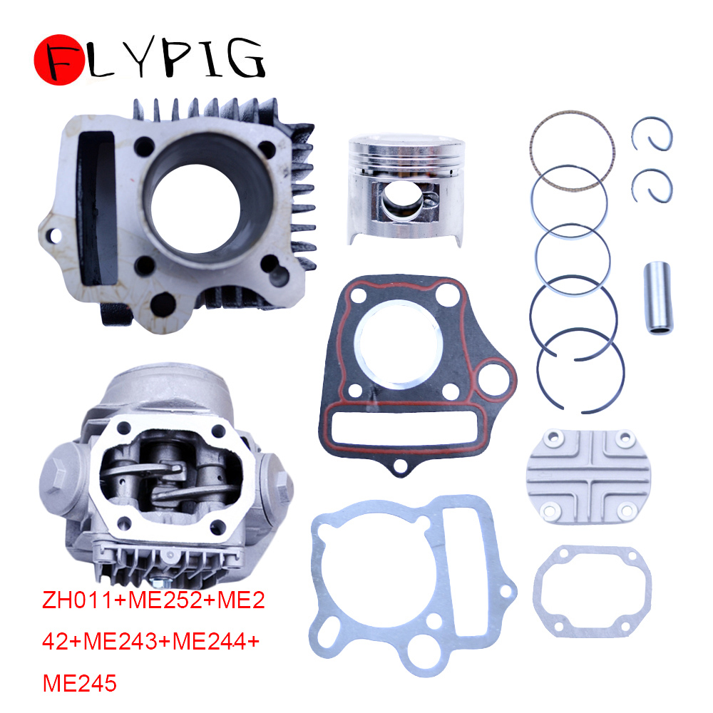47mm Cylinder Head Piston Rings Gaskets Kit for Trail <font><b>90</b></font> Scooter Moped 90cc 86CM3 Motorcycle Dirt Pit Bike ATV Parts D20 image