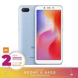 Перейти на Алиэкспресс и купить [official spanish version warranty] redmi 6 eu memoria smartphone, 3 hard gb ram, 64 hard gb rom, ips lcd 13, 8 cm (5,45 inch)