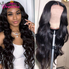 Human-Hair-Wigs Closure Wig Lace-Front-Wig Body-Wave Princess 4x4 Lace Brazilian Black