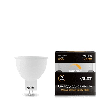 LED bulb Gauss led MR16 GU5.3-dim 5W 2700K dimmable