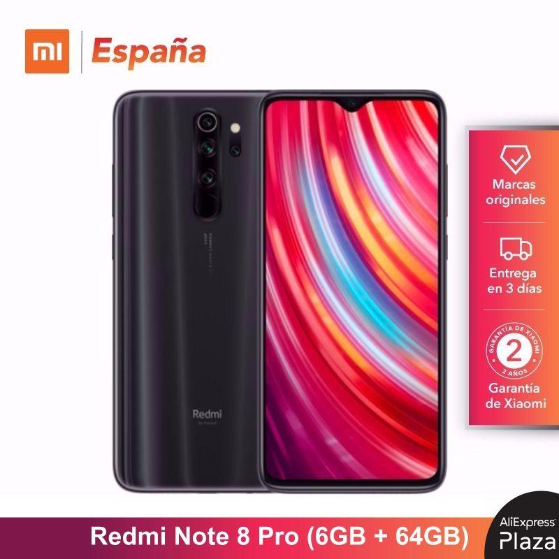 Xiaomi Redmi Note 8 Pro (ROM 64 go, RAM 6 go, Cámara de 64 MP, Android, Nuevo, Libre) [Teléfono Movil Versión Global para España