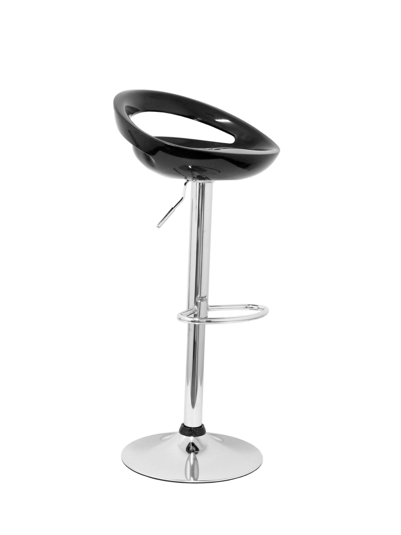 OUTLET Barroom Stool, Swivel And Height Adjustable By Gas Cylinder (include Hoop Footrest Chrome Finish)-Asie