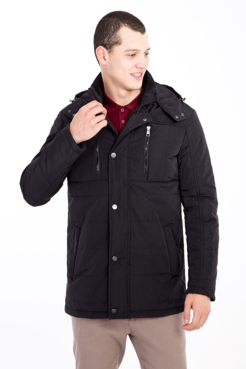 Kigili Menswear Autumn-Winter Warm Casual Overcoat High Quality Bonded Coats Made In Turkey Essentials Men's Wool Blend Jacket