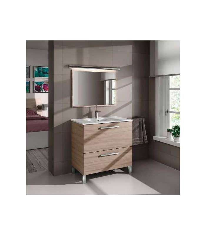 Bathroom Furniture Urban 1 Door 1 Cajon Sink And Mirror Nature