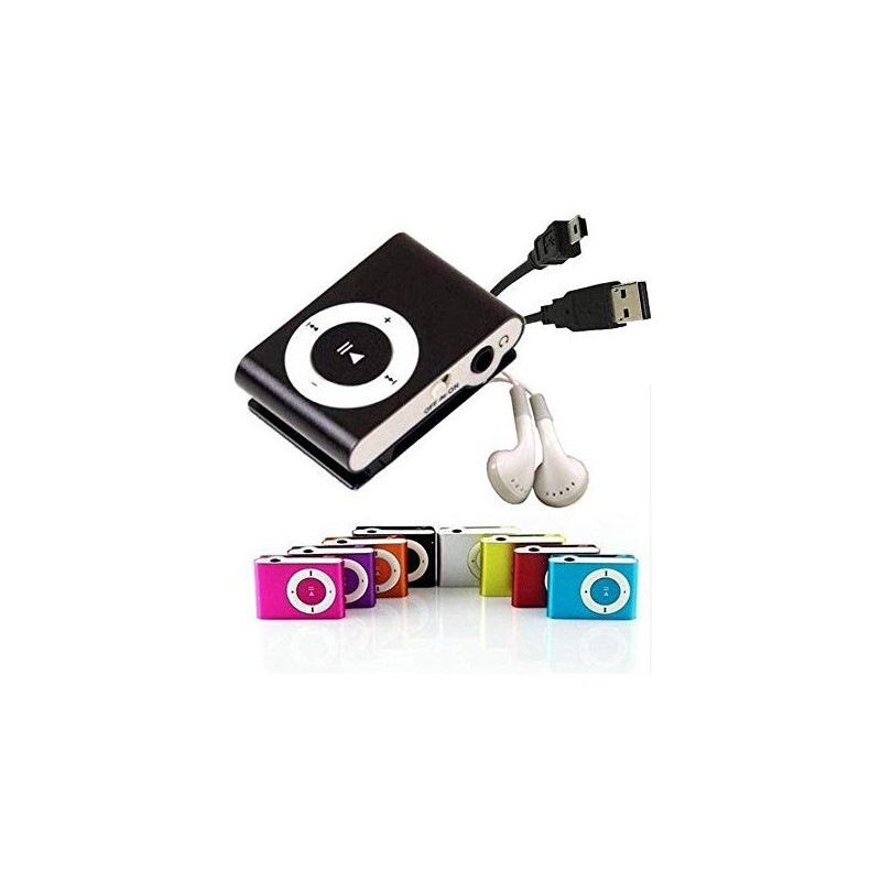 MP3 Player With Clip + Headphones + USB Cable In Gift Box-Details And Gifts For Weddings, Christening Suits, Communions, Birthday