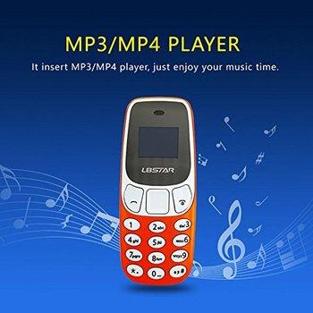 Restaurador Mini telefono Bluetooth El movil mas pequeño del Mundo con Puerto de Sim Doble de Cambio L8Star BM10 U8P3 naranja