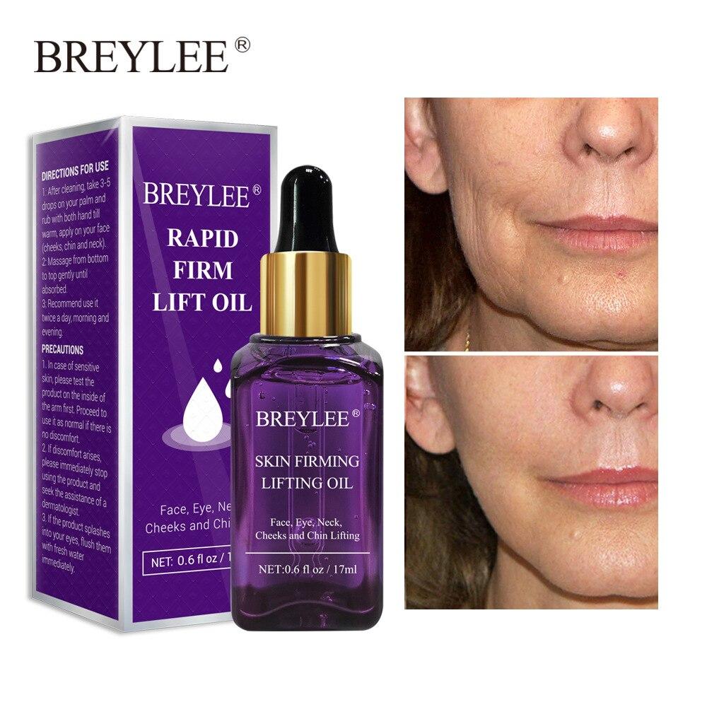 BREYLEE Essential Oils Anti-Aging Wrinkle Reduce Fine Lines Serum Firming Lifting Nourishing Essence Face Skin Care Beauty