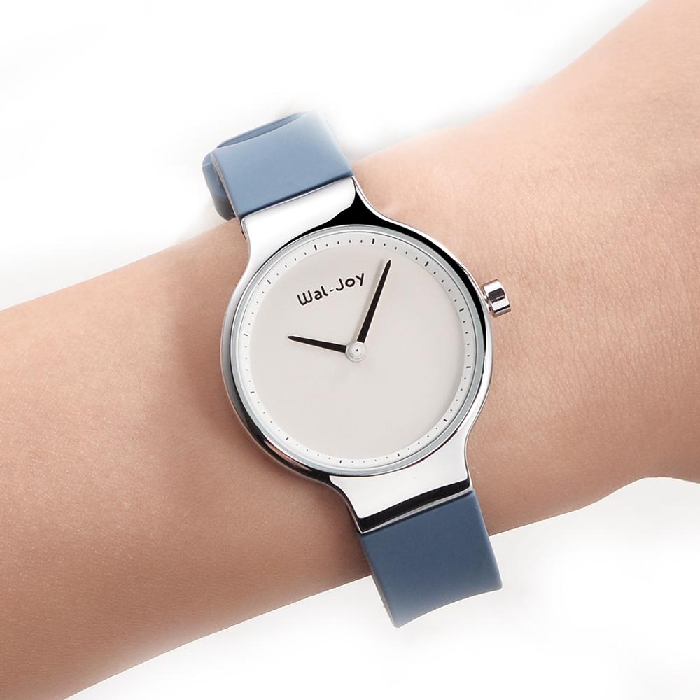 WJ-9008 Wal-Joy Exquisite Minimalist Quartz Wristwatch Silicone Strap Watch For Women Casual Simple Bracelet Wrist Watches Dress
