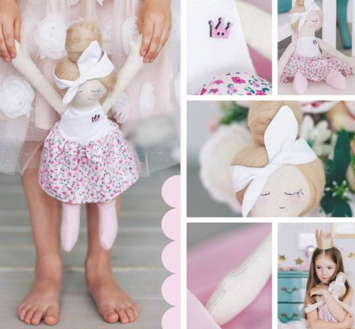 Set For Sewing Textile Doll Art Pattern