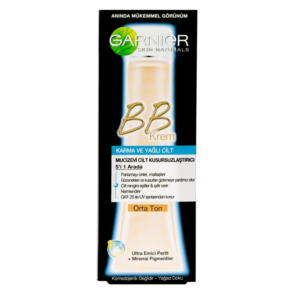 Garnier BB Cream Miraculous Skin Perfecting Combination / Oily Skin Medium Tone 40ML image