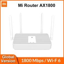 (€50-€7 code : RADARCUPON7 ) Xiaomi-enrutador Mi AX1800, versión Global, WiFi 6, 1800 Mbps, Chip de 5 núcleos, 256MB de RAM, 2,4G/5G, red de malla de doble frecuencia, 4 antenas AX5