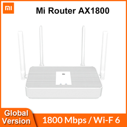Global Version Xiaomi Mi Router AX1800 WiFi 6 1800 Mbps 5-Core Chip 256MB RAM 2.4G/5G Dual Frequency Mesh Network AX5 4 Antennas