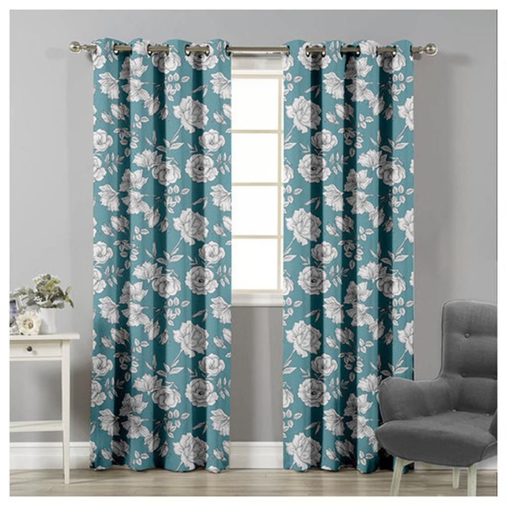 Blackout curtains patterned Lounge modern thermal insulation for bedroom 1 piece 140x260 cm ADP Home|Curtains| |  - title=