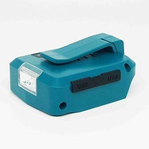 Image 5 - Dla Makita ADP05 14.4V/18V Lion Battery podwójny konwerter USB Port z oświetleniem LED Spotlight latarka zewnętrzna do akumulatorów Makita