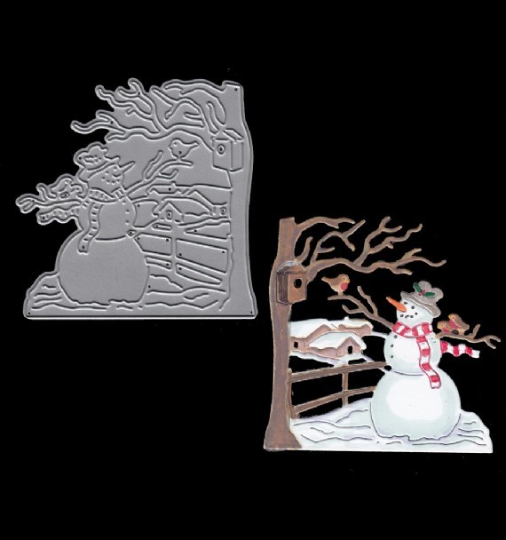 Snowman metal cutting Dies For DIY Scrapbooking Steel Craft Die Cuts paper art emboss Card making Stencil 73*72mm Cutting Dies    - AliExpress