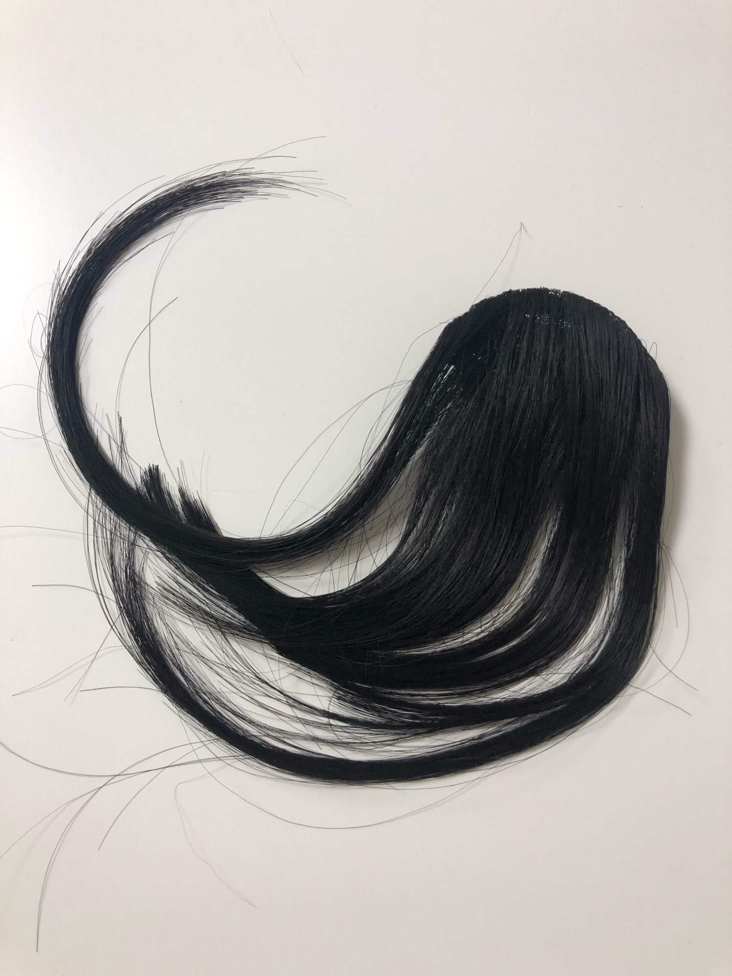 1pcs High Quality Hair Clips Fringe Hair Pieces False Synthetic Hair On The Clips Front Neat Bang Good Hair Styling Accessories photo review