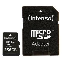 Karta pamięci Micro SD z adapterem INTENSO 3423492 256 GB czarny