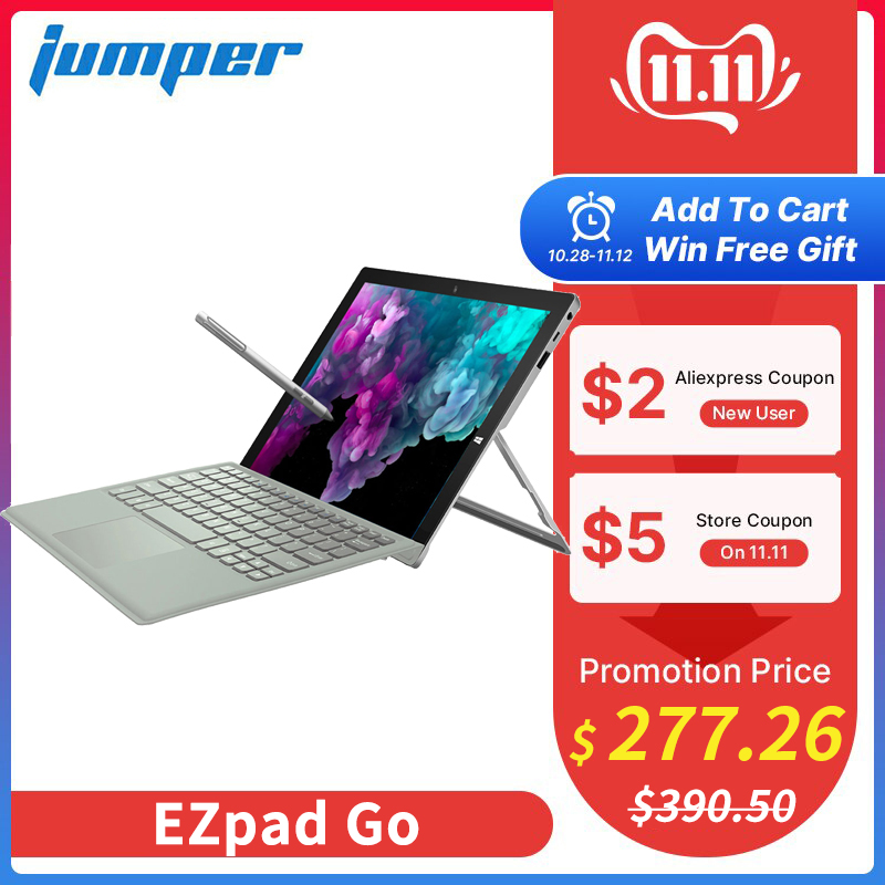 2 in 1 Tablet PC Jumper EZpad Go 11.6 inch IPS Display windows tablet 4GB RAM 64GB/128GB Intel Apollo Lake N3450 tablet with pen-in Tablets from Computer & Office