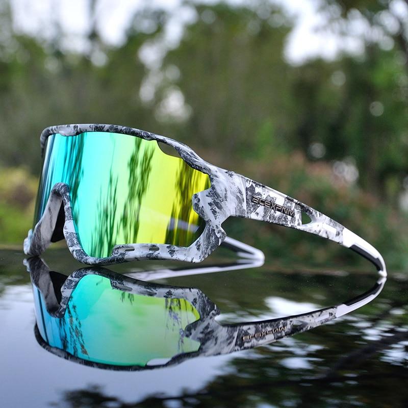 Brand Outdoor Sports Cycling Glasses Mountain Bike Cycling Goggles Men Polarized Cycling Sunglasses UV400 Cycling Eyewear