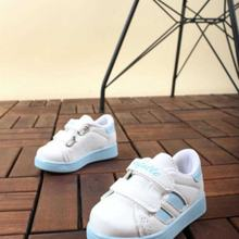 Flaneur Baby White - Blue Casual Sneaker Shoes 2021 Premium Quality