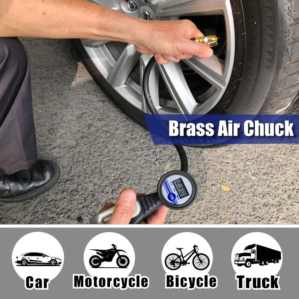 LEMATEC skaitmeninis padangų pripūtiklis su manometru automobilių - Elektriniai įrankiai - Nuotrauka 3