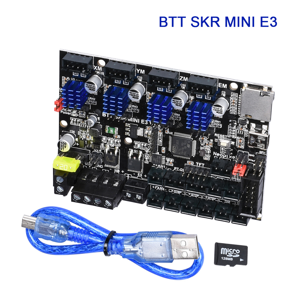 BIGTREETECH SKR MINI E3 V1.2 Control Board 32 Bit Integrated TMC2209 UART 4PCS Drivers For Ender 3 Pro Panel 3D Printer Parts