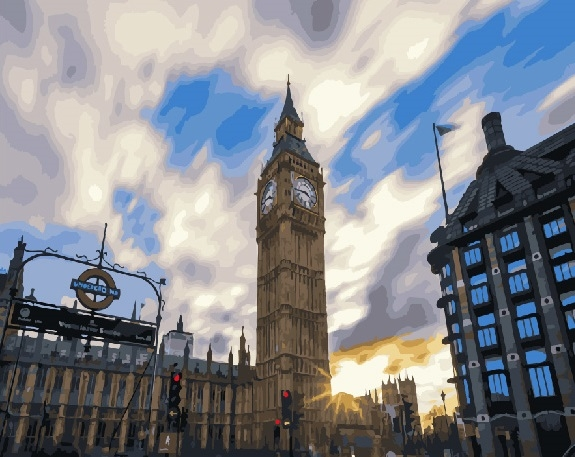 Picture By Numbers Morning Big Ben, 40x50 Cm