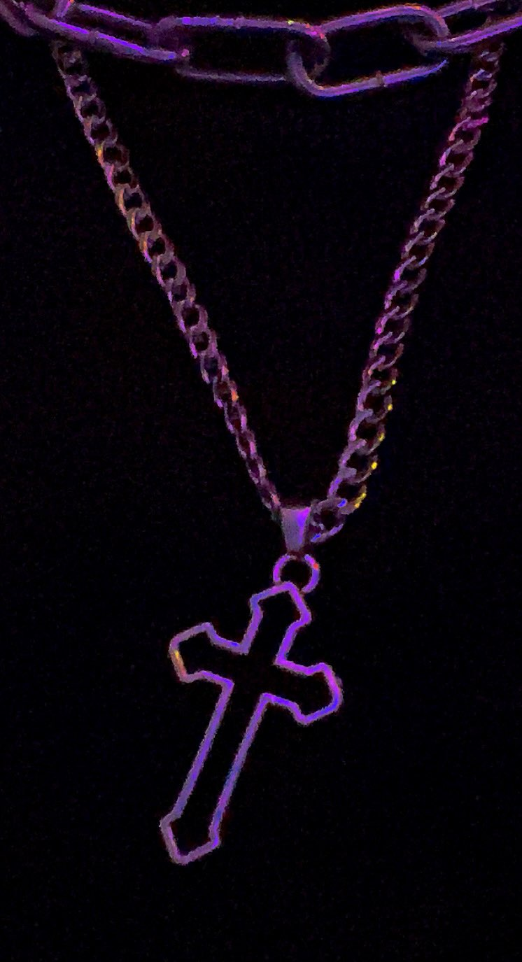 Chain Necklace  with Gothic Hollow Cross Pendant E-girl photo review