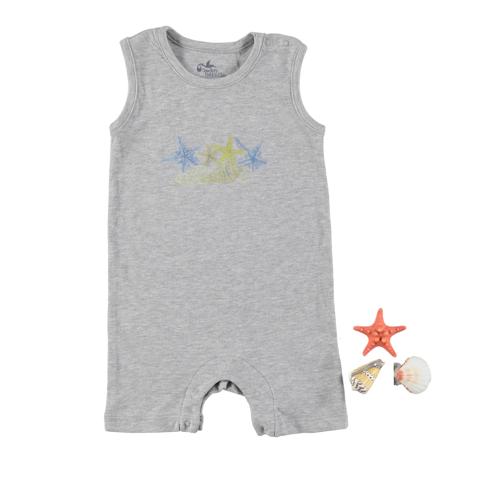 Ebebek Newborn Fashion Club StarFish Baby Jumpsuit
