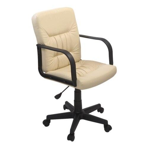 Компьютерное кресло ФАБРИКАНТ Чери А (Кожа иск., DO, №122(кремовый) , ТГ, PL 600, PL, ролик ст.)|Офисные стулья| | АлиЭкспресс