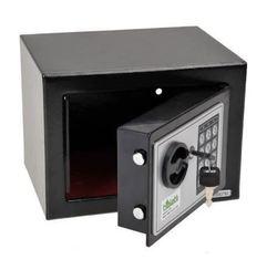 صندوق قوي الصلبة الصلب خزانة إليكترونية آمنة مع لوحة المفاتيح الرقمية قفل أسود قوي صندوق صغير قابل للقفل المال النقدية صندوق تخزين المجوهرا...