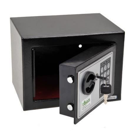 Strongbox Solid Steel Electronic Safe Box With Digital Keypad Lock Black Strongbox Mini Lockable Money Cash Money Jewelry Storage Box