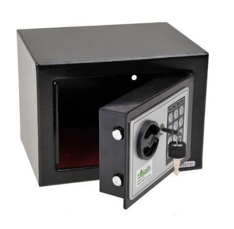 Strongbox Solid Steel Electronic Safe Box With Digital Keypad Lock Black Strongbox Mini Lockable Money Cash Money Jewelry Storage Box