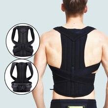 Corrector de postura ajustável para trás apoio ombro volta cinta postura correctionr spine corrector saúde postural fixer fita