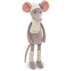 Soft toy Oranje Speelgoed Muis Verpleegkundige grijs 20 cm