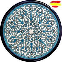Ceramics plate from 24 cm/9 5 inch diameter enameled ceramics hand done in España MIJASCERAMIC ARTECER  Bowls & Plates    -