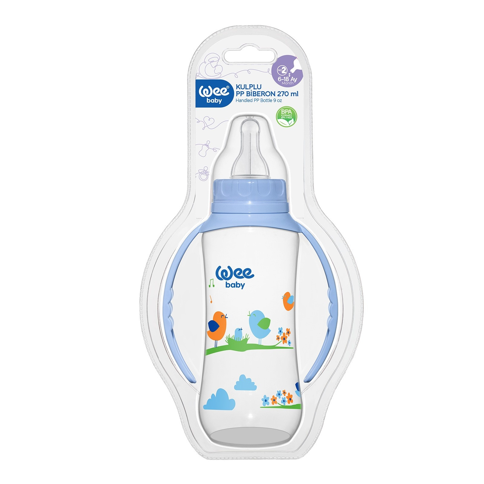 Ebebek Wee Baby 745 PP Feeding Bottle With Handle 270 Ml