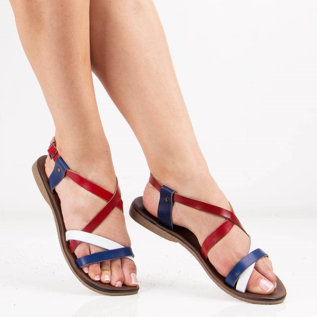 Sail-Lakers Multicolour Leather Women Sandals