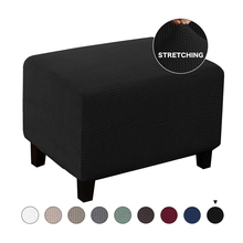 Elastic Ottoman Slipcover Stretch Storage Ottoman Slipcover Protector Spandex Rectangle Footstool Sofa Foot Rest Stool Covers m style пуф ottoman square