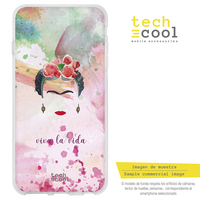 FunnyTech®Silicone Case for Iphone 6 /Iphone 6S Frida background colorful characters designs illustrations 3