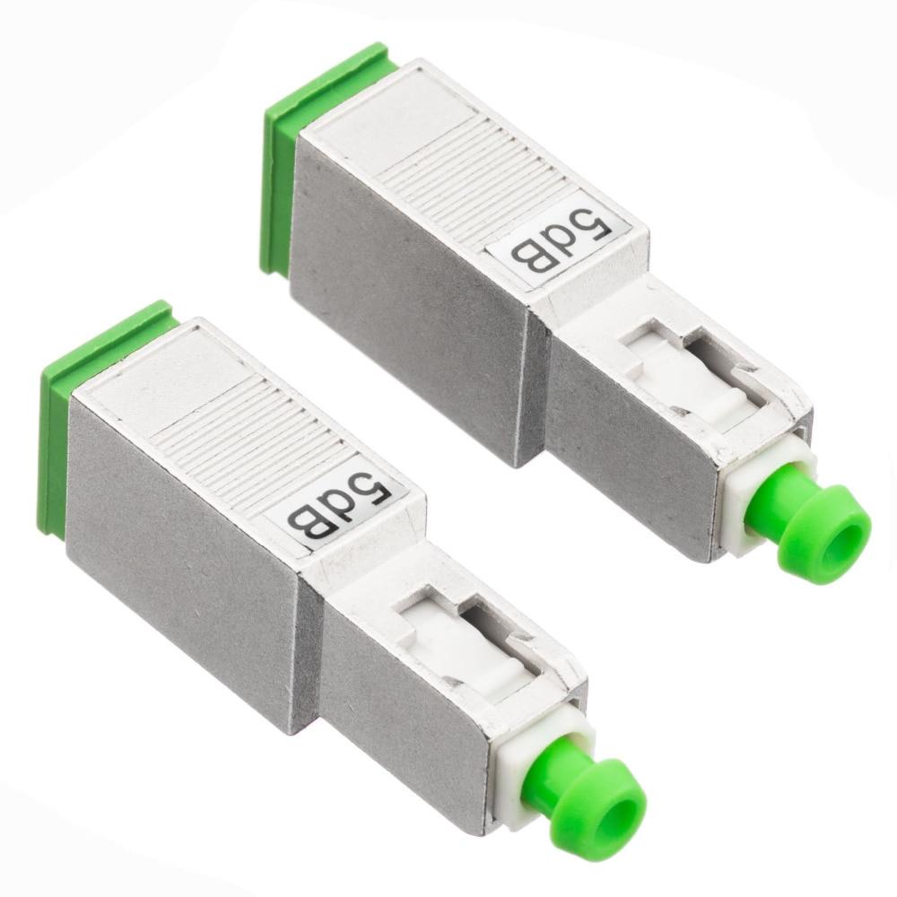 5PCS SC APC 10bd Simplex Mode Fiber Optic Attenuator SC 5db 10dB Metal Male Fiber Attenuator FTTH Attenuator Free Shipping