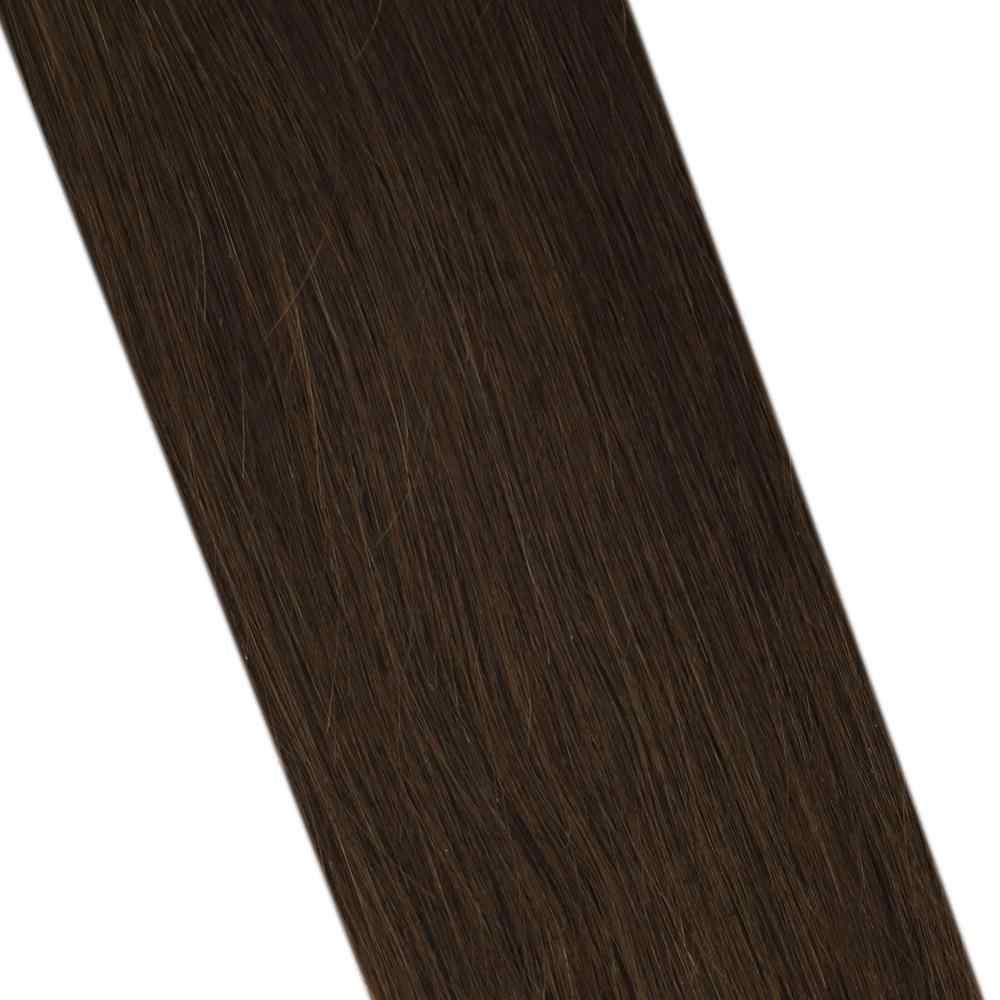Micro Ring Hair Extensions 1g/strand Machine Remy Human Hair 50g/100g 14-24inch Solid Color Micro Bead Hair